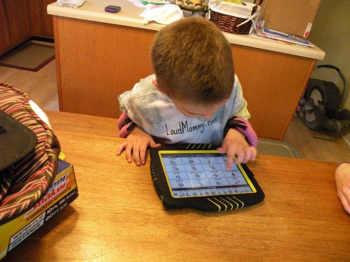 Child Using Proloque2 on iPad