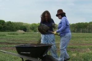 Rachel Kaplan Working on a Farm
